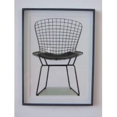Bertoia Wire Chair Print Black Frame