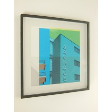 Bauhaus Building Print Black Frame