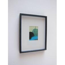 Small Black Framed Turquoise Modern Print