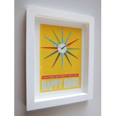 Happy Hour Print Thick White Frame