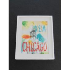 Small Dream Chicago Print White Frame