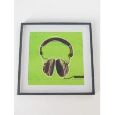 Headphones Print Black Frame