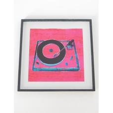 Record Player Print Black Frame