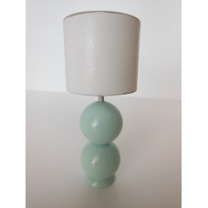 Chloe Blue Table Lamp with White Shade