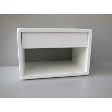 Emerson Nightstand in White with White Drawer