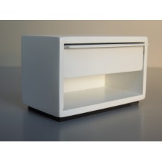 Phillip Nightstand in White with White Drawer