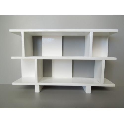 Fantastic Modern Dollhouse Furniture | M112 PODS | Vendi 2 Tier Bookcase in  LO01