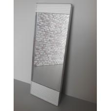 Silver Wave Floor Mirror