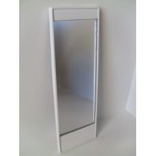 White Wave Floor Mirror