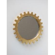 Gear Wall Mirror in Gold
