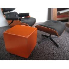 Orange Painted Wood Cube
