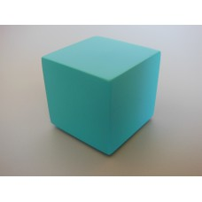 Turquoise Painted Wood Cube