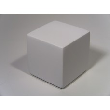 White Painted Wood Cube