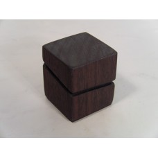 Wood Cube with Accent Cut Line