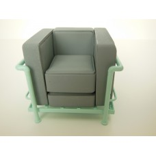Le Corbusier Petit Lounge Chair Gray/Light Blue