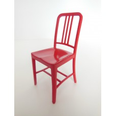Navy Chair in Red