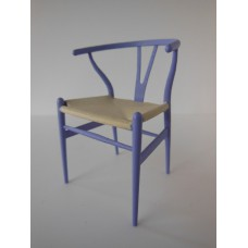 Wishbone Chair - Lavender with Natural Seat