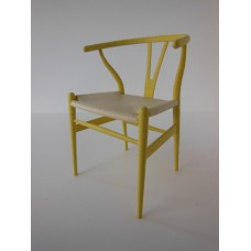 Wishbone Chair - Yellow with Natural Seat