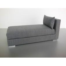 Preston One Arm Chaise in Gray