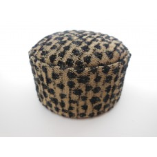 Large Round Ottoman in Black Speckle