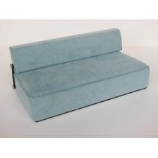 Moda Convertible Sofa in Blue Microsuede