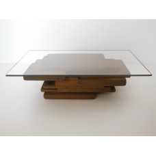 STAX Coffee Table in Rust