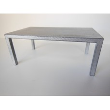 Burnished Metal Parsons Dining Table