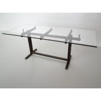 Trellis Dining Table in Rust