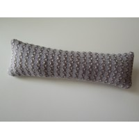 Gold / Lavender Textured Long Oblong Pillow