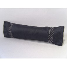 Slate Embroidered Long Oblong Pillow
