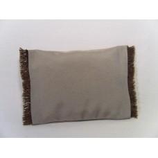 Ash Fringe Large Rectangle Pillow