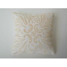 Goldenrod Batik Large Square Pillow