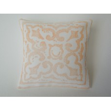 Persimmon Batik Large Square Pillow