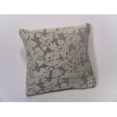 Cream / Blue Large Square Pillow