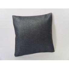 Metallic Blue Large Square Pillow