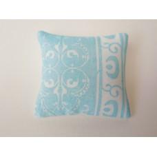 Paisley Blue Small Square Pillow
