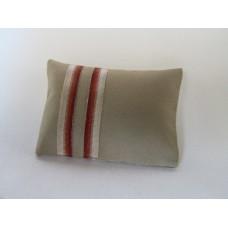 Banded Tan Medium Rectangle Pillow
