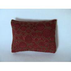 Rust Circle Medium Rectangle Pillow