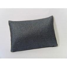 Metallic Blue Medium Rectangle Pillow