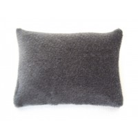 Charcoal Velvet Medium Rectangle Pillow