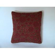 Rust Circle Medium Square Pillow