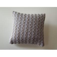 Gold / Lavender Textured Medium Square Pillow