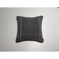 Black / Blue Plaid Medium Square Pillow
