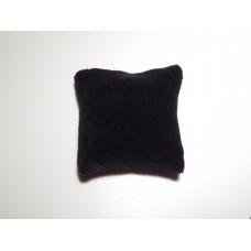 Black Velvet Medium Square Pillow