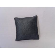 Metallic Blue Small Square Pillow