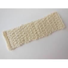 Knitted Throw - Cream Basketweave
