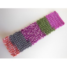 Knitted Throw - Multi Fuschia
