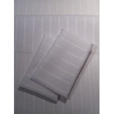 White Tonal Stripe Sheet Set