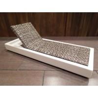 Cancun Chaise - Stone on White Base