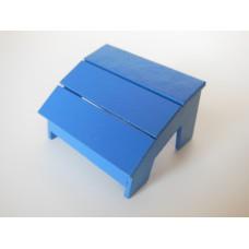 Loll 3 Slat Ottoman in Blue